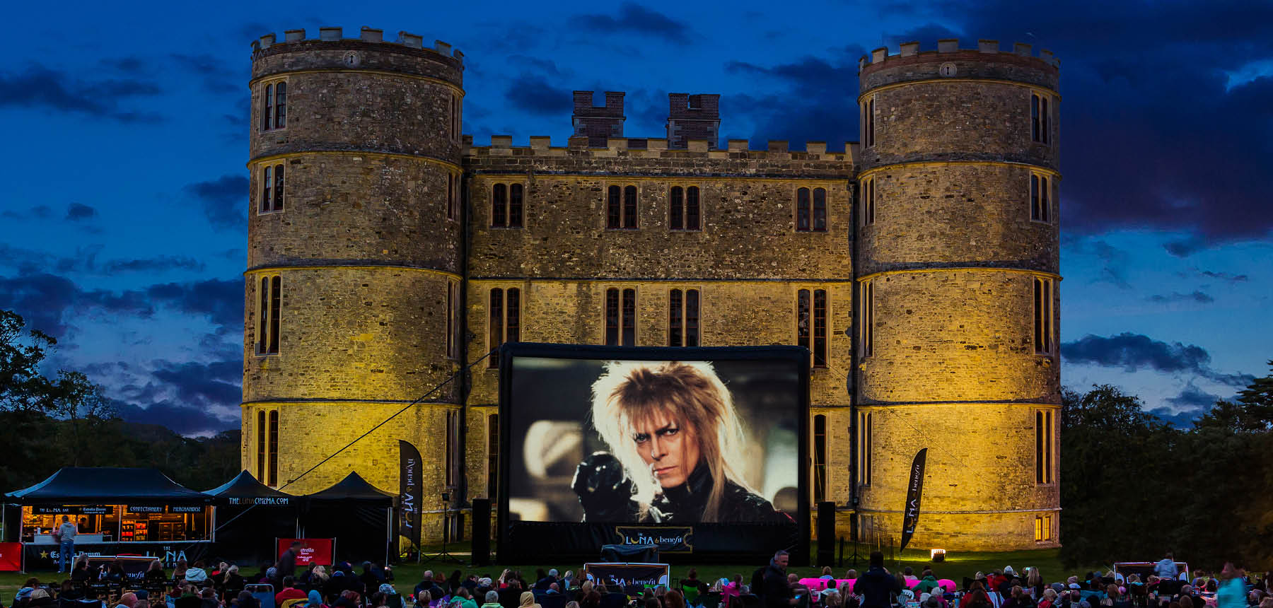 luna outdoor cinema returns to lulworth castle