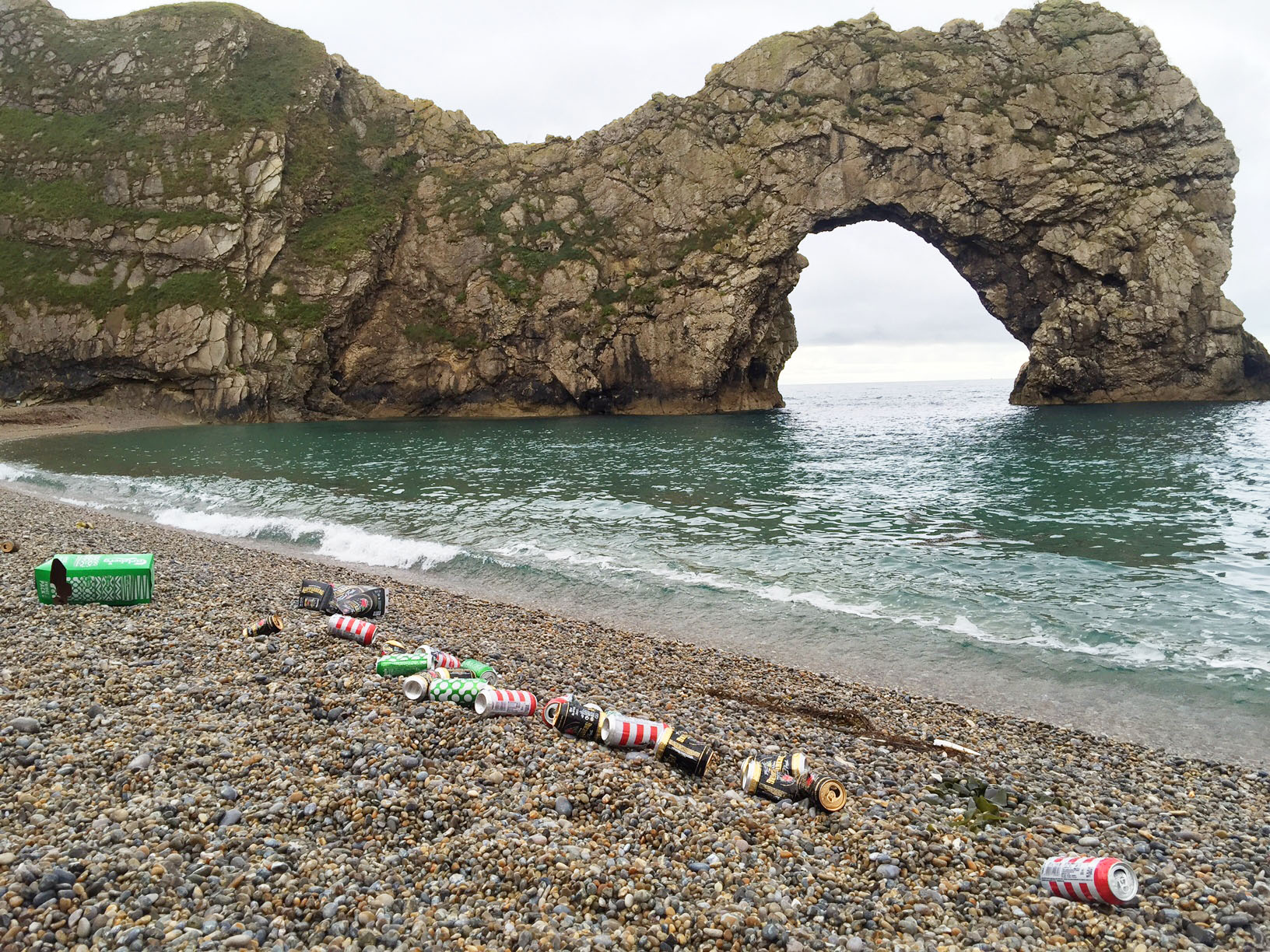 Durdle Door Beach Litter